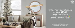 Bouclair – Win a Holiday Home Makeover ($2,300 value)