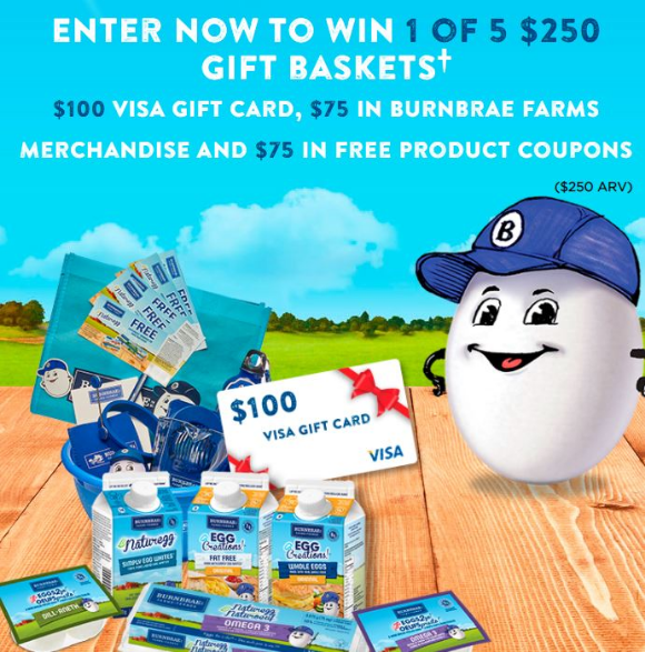 Burnbrae Farms Road to the Royal  – Win 1 of 5 $250 gift baskets