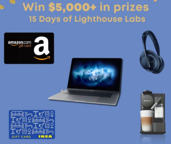 15 Days of Lighthouse  – Win a new Macbook Pro, Decked-Out Office Space, Nespresso Lattissima and more