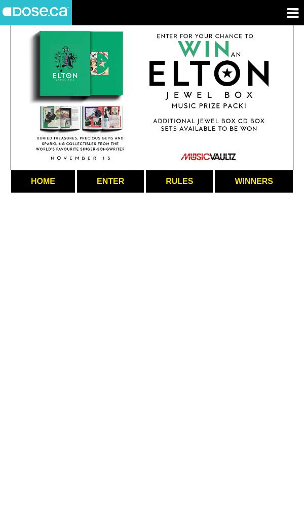 dose.ca – Win an Elton John Jewel Box Music Prize Pack Contest