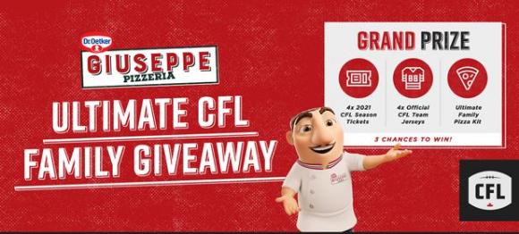 Dr. Oetker Giuseppe CFL Giveaway – Win 1 of 3 Ultimate CFL prize packs at cfl.ca/droetker