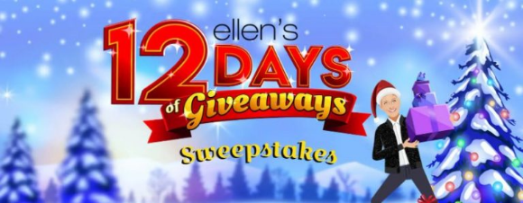 Ellen Show 12 Days of Giveaways  – Win Tickets to Ellen's 12 Days of Giveaways at ellenshop.com