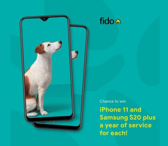 Fido Survey  – Win an iPhone 11 plus a Samsung S20 and more