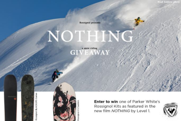 Freeskier  – Win a Rossignol snow riding setup as seen in Parker White's NOTHING