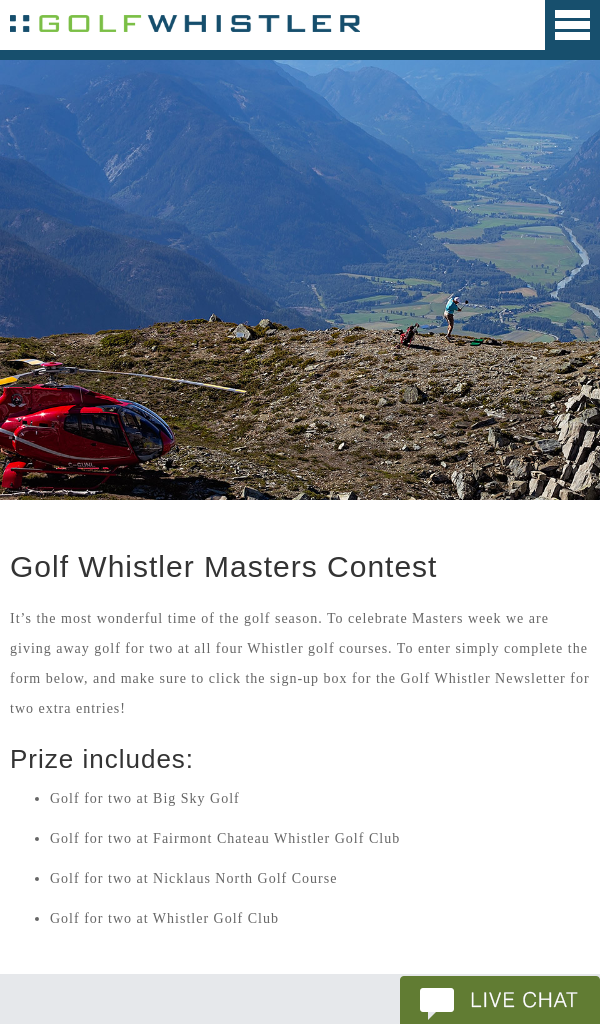 Golf Whistler – Win rounds of golf best fo