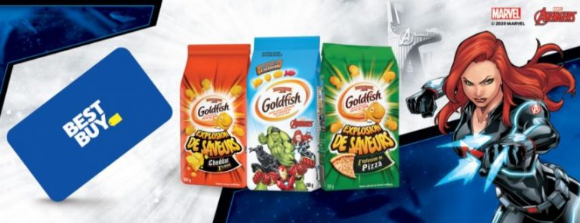 IGA Goldfish Best Buy  – Upload your receipt and win 1 of 10 $1000 Best Buy gift cards at GoldfishContest.ca