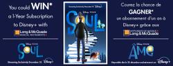 Long & McQuade + Pixar's Soul – Win 1 of 3 Disney+ 1 Yr Subs.