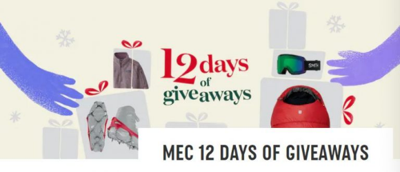MEC 12 Days of Giveaways 2020 – Win 1 of 12 prizes
