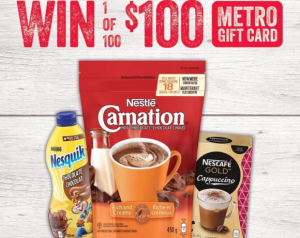 Metro and Nestlé Stir up your Holiday  – Win 1 of 100 $100 Metro gift cards