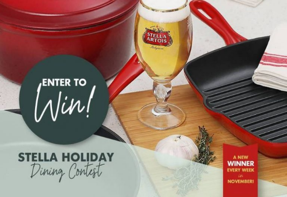 Moxie's Grill & Bar Stella Artois  – Win premium cooking sets valued at $1500 every week