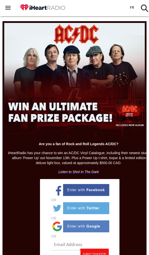 PM Bell Media Inc – Win a AC/DC ULTIMATE Fan Prize Package CONTEST