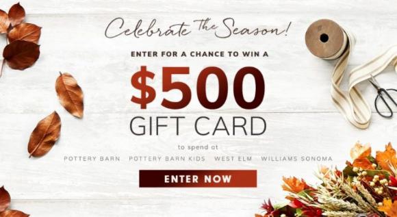 Pottery Barn Kids Fall  – Win a $500 gift card