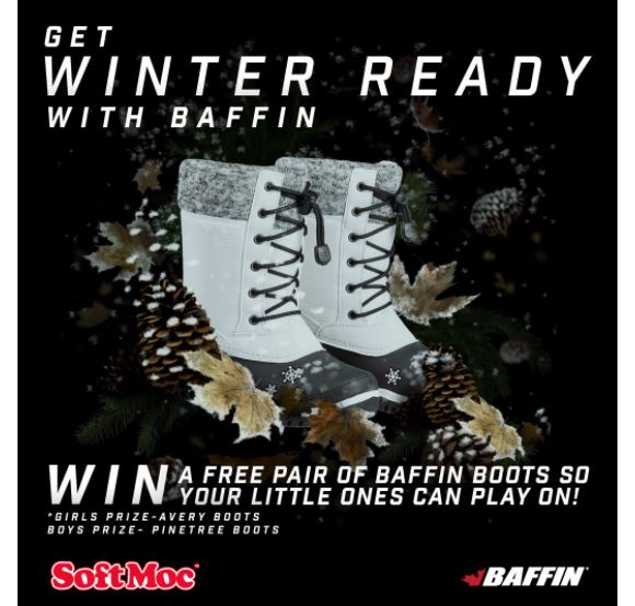 Softmoc Shoes Giveaway – Win a free pair of Baffin kids boots