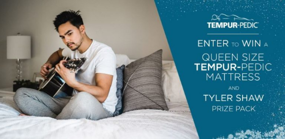 Tempur-Pedic  – Win a Queen Size Tempur-Pedic Mattress and a Tyler Shaw prize pack