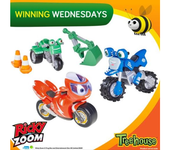 Treehouse Giveaway – Win a Ricky Zoom prize pack