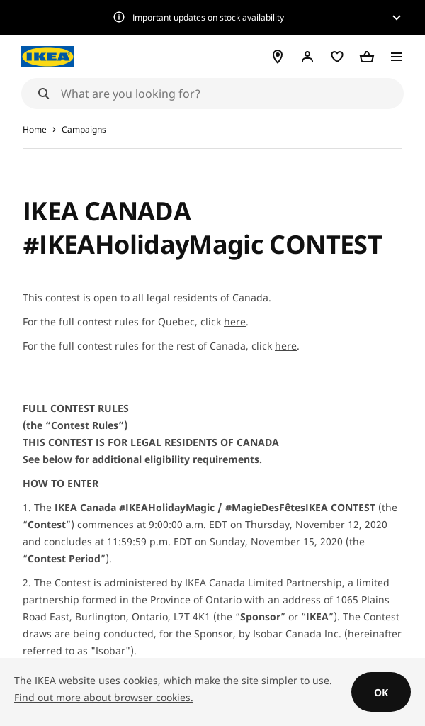 Win IKEA Ikea Holiday Magic Contest RQD
