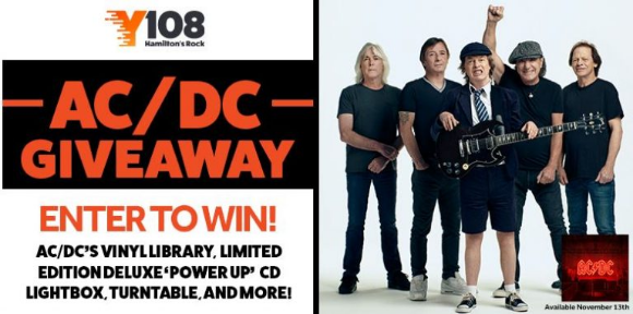 Y108 Rocks! AC/DC  – Win the ultimate AC/DC prize pack