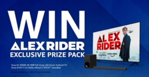 PlayStation Alex Rider  – Win a Sony 65″ X900H LED 4K UHD Smart TV, a Sony HT-G700 soundbar and more