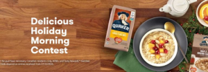 Tasty Rewards Quaker Delicious Holiday Morning  – Win $1,000 cash