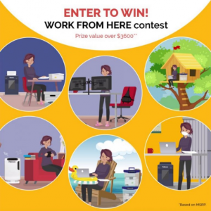 Fellowes  – Win a $3600 home office prize pack