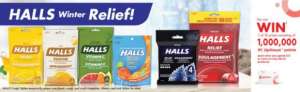 Shoppers Drug Mart Halls Winter Relief  – Win 1 of 10 prizes of 1 million PC Optimum Points