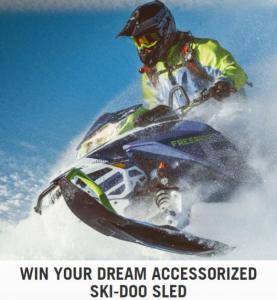 Ski-Doo  – Win your an accessorized Ski-Doo Sled valued at $20,000 at winaskidoo.com