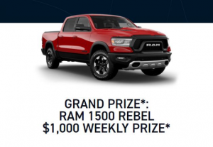 Sportsnet Hockey Predictor  – Win a RAM 1500 Rebel and $1,000 weekly prizes