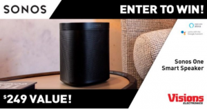 Visions Electronics  – Win a Sonos One Smart Speaker