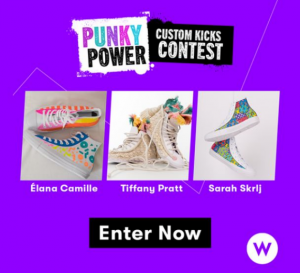 Punky Brewster  – Win 1 of 3 custom styled sneakers by Canadian designers