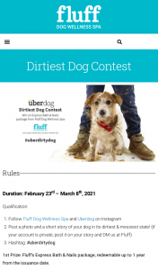 Win Dirtiest Dog Instagram Contest