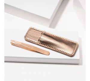 Win 1 fo 3 Rose Gold Mini Slant Tweezers from Tweezerman Canada –