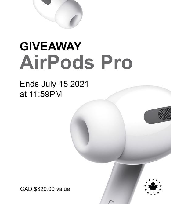 Canadian Protein  – Win a pair of AirPods Pro