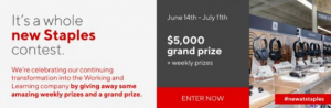 It's a Whole New Staples  – Win a $5,000 gift card and more