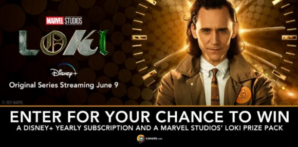 Loki  – Win a Loki prize pack and a Disney+ Yearly Subscription
