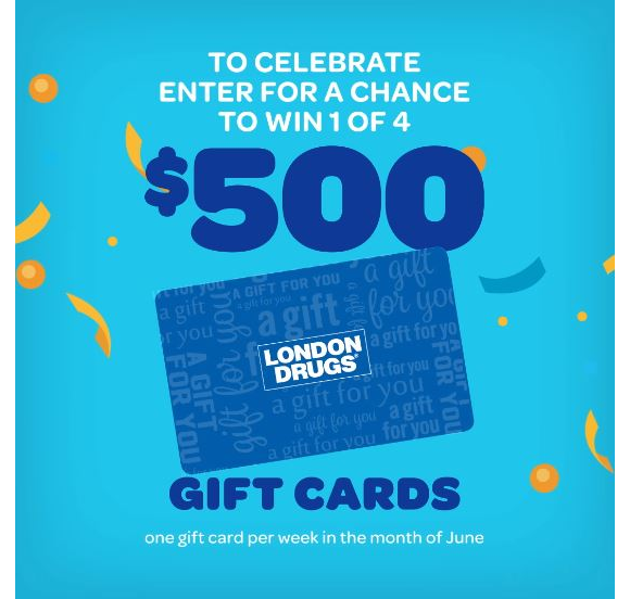 London Drugs x Lotto BC Giveaway – Win 1 of 4 $500 London Drugs gift cards