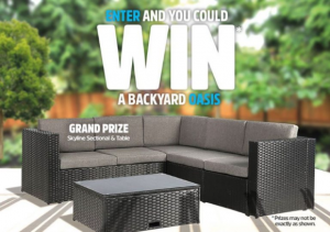Mary Browns Backyard Oasis  – Win 1 of 4 prizes valued at up to $5130 at marybrowns.com/backyardoasis