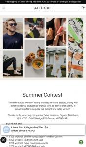 Win Attitude Bio Spectra Summer Contest
