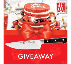 ZWILLING 290th Birthday  – Win 1 of 290 ZWILLING Pro 7″ Chef Knives
