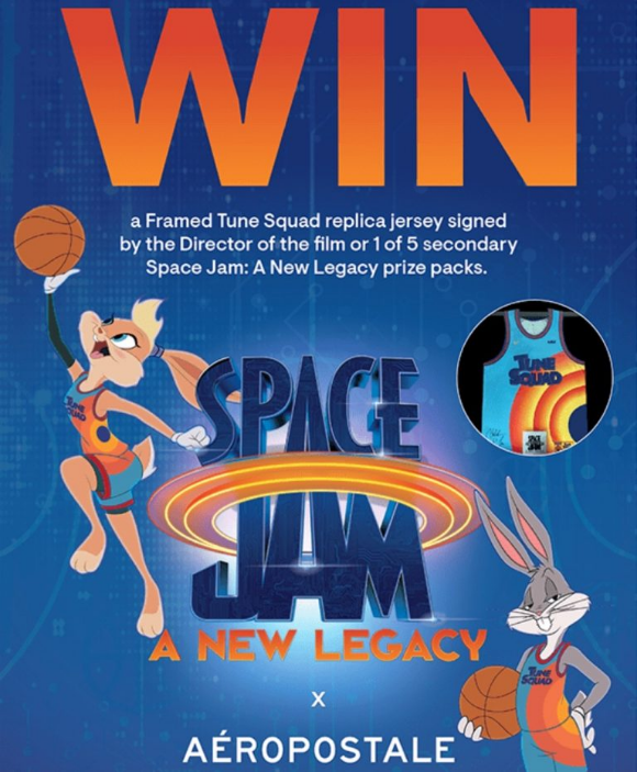 Aeropostale X Space Jam  – Win a signed and framed Tune Squad replica jersey and more