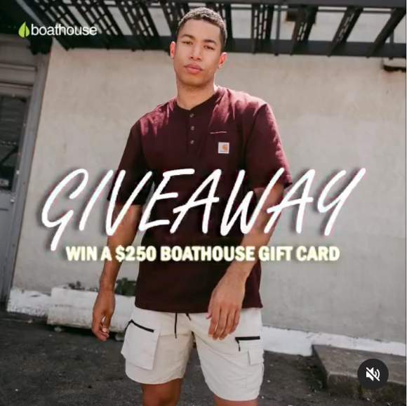 Boathouse Giveaway – Win a $250 Boathouse gift card