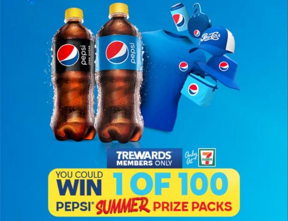 7-Eleven Pepsi Summer  – Win 1 of 100 Summer Prize Packs