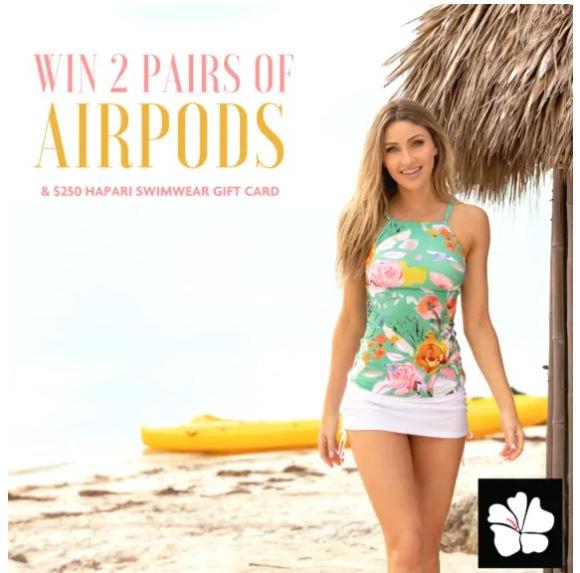 HAPARI  – Win 2 pairs of Airpods + $250 Credit to HAPARI Swimwear and more