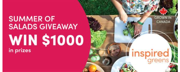Inspired Greens Summer of Salads Giveaway – Win $1,000 in prizes
