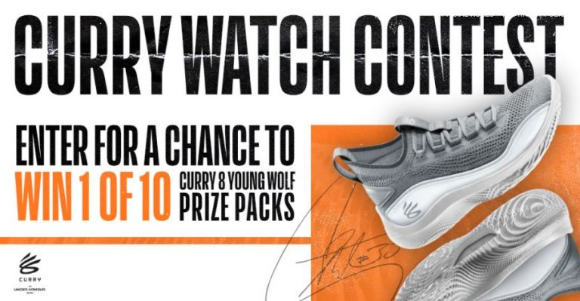 NBA Canada Curry Watch  – Win 1 of 10 Curry 8 Young Wolf Flow prize packs