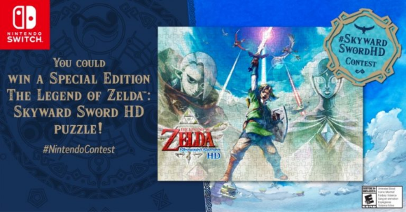 Nintendo Canada  – Win 1 of 3 the Legend of Zelda Skyward Sword HD puzzles