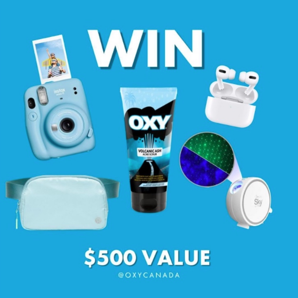 OXY  – Win a summer prize pack valued at $500 including Apple AirPods Pro and more