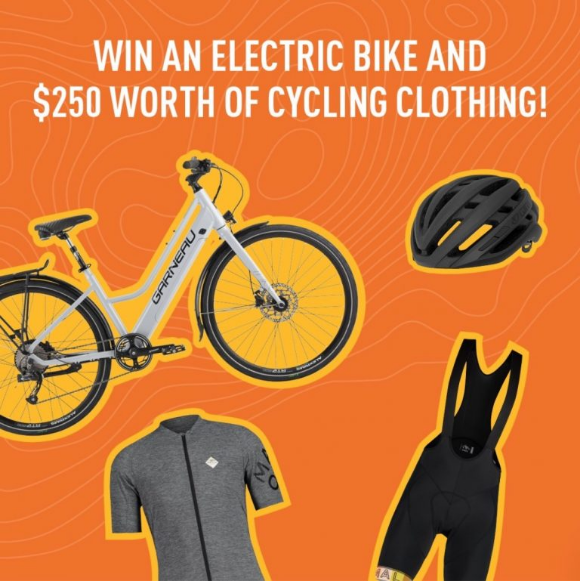 SAIL  – Win an electric bike and $250 worth of cycling clothing