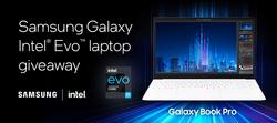 Win Samsung Galaxy Intel Evo laptop giveaway Gleam