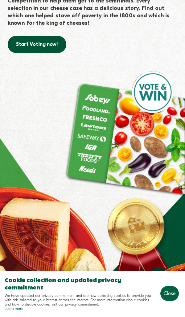 Win Sobeys WORLD OF CHEESE CONTEST 2021