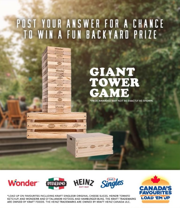 Wonder Bread  – Win a Giant Tumbling Blocks Tower Game + coupons